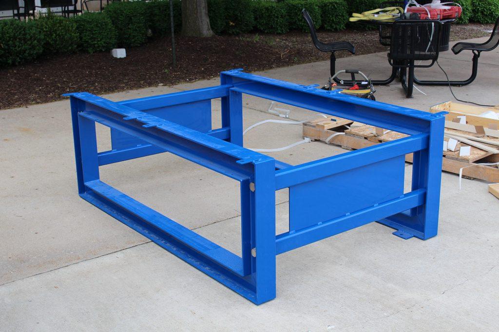 T1086035 steel I-Beam frame assembled