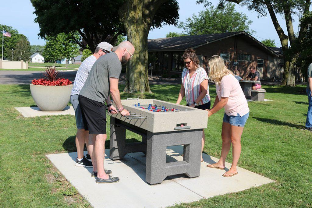Concrete foosball table
