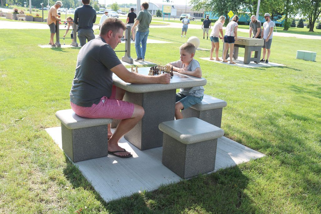Outdoor chess table
