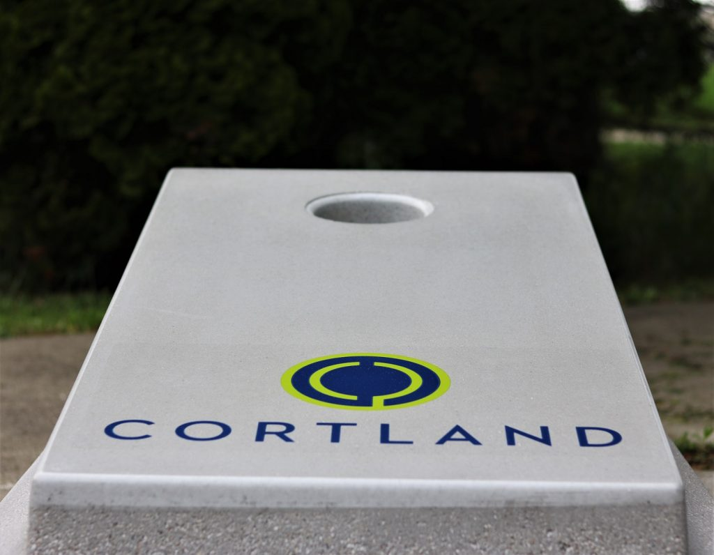 BYOB5531 Concrete Cornhole Custom Logo